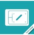 Design table icon design vector image