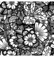 Hand drawn floral wallpaper vector image