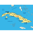 Republic of Cuba - map vector image