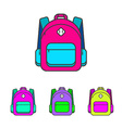 School bag Colorful school bag icon School bag vector image