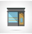 Shoe shop facade flat color design icon vector image