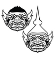 Thai Khon mask - Phra Ram character from trational vector image