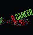 the cancer research industry text background word vector image