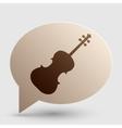 Violine sign Brown gradient icon on vector image