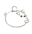 save money piggy coins bank sketch vector image