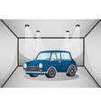 A car inside the garage vector image