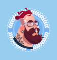 profile icon male emotion avatar hipster man vector image