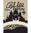 coffee venice vector image