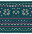 Knitted texture with floral pattern vector image vector image