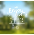 Summer design background vector image