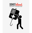 donate blood design vector image