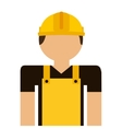 builder avatar isolated icon design vector image