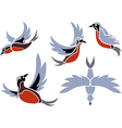 Flying Birds Icons vector image