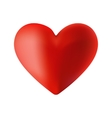 a red heart on the day of vector image