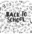 Back to school poster design with seamless numbers vector image