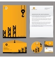 building corporate branding identity vector image