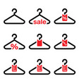 hanger sale buy 1 get 1 free buttons set vector image