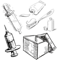 Medical stuff set vector image