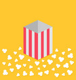 popcorn popping on floor red yellow strip square vector image