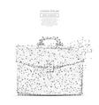 briefcase low poly gray vector image
