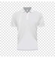 White polo shirt mockup realistic style vector image