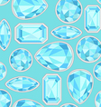 blue Sapphire saturated color seamless pattern vector image