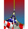 al 0749 zipper usa flag vector image vector image