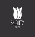 Tulip beauty floral design logo vector image