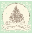 Vintage Christmas card design vector image vector image