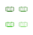 Set of paper stickers on white background Digital vector image