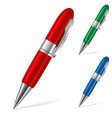 Set of pens vector image vector image