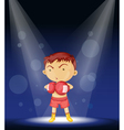 Boy Boxer Stage Performance vector image vector image
