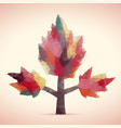 abstract tree of triangles vector image