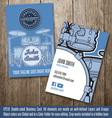 Drums Instructor Business Card vector image
