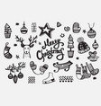 handdrawn elements vector image