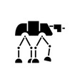 robot warior armored transport icon vector image