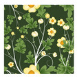 seamless florals pattern background vector image