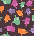 seamless pattern background hands vector image