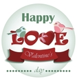 Valentine romantic background with hearts vector image