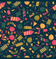 Happy carnival festive seamless pattern with mask vector image
