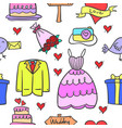 collection stock of wedding element style design vector image