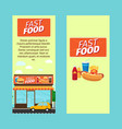 fast food vertical flyers vector image