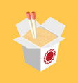 chinese restaurant opened take out box filled vector image