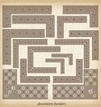 Seamless maze border Simple to use elements vector image vector image