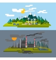 farm and factory vector image vector image