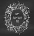 Chalk floral frame vector image vector image