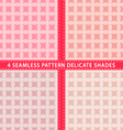 Set of seamless pattern delicate shades vector image