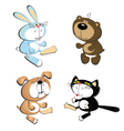 dog cat rabbit bear vector image