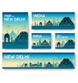 India landscape banners set design vector image