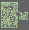The template pattern for decorative panel1 vector image